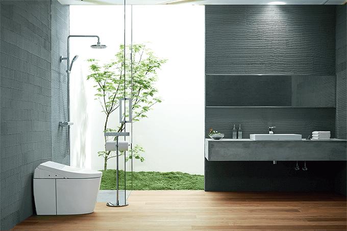 環境テクノロジーを考慮し、美しいデザインを兼ね備えたトイレ