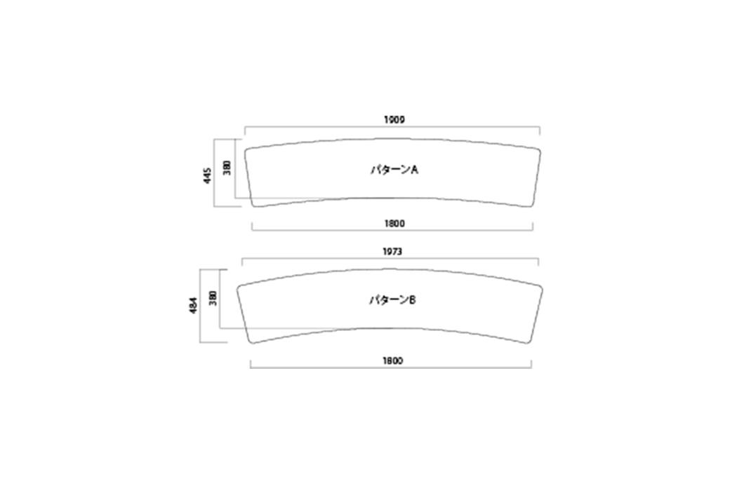 FRP 特殊形状ベンチ2